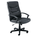 Jemini Leather Look Executive Armchair Black
