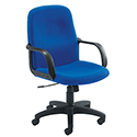 Jemini Managers Chair With Arms Star Leg Blue KF03428