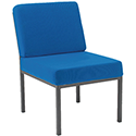 Jemini Fabric Upholstered Reception Chair Blue KF04011