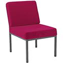 Jemini Fabric Upholstered Reception Chair Claret KF03591