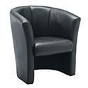 Avior Leather Look Tub Chair Black KF03527