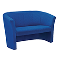Avior Fabric Upholstered Tub Sofa 2 Seater Blue KF03524