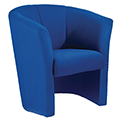 Avior Tub Fabric Chair Blue KF03521
