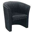 Avior Tub Fabric Chair Charcoal KF03522
