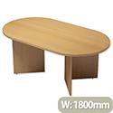 Trexus Boardroom Table D-End Arrow Leg W1800xD1000xH725mm Beech