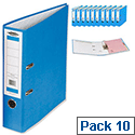 Concord Classic Lever Arch File Printed Lining Capacity 70mm A4 Blue Pack of 10