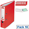 Concord A4 Red Lever Arch Files Pack 10