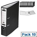 Concord Lever Arch File Foolscap Black Pack 10