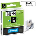 Dymo D1 Tape 45013 12mm x 7m Black on White S0720530