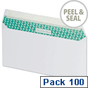 Basildon Bond DL Envelopes Peel and Seal White (Pack of 100)