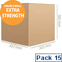 Ambassador Packing Box Double Wall Strong Flat-packed Internal 457x305x305mm Pack 15