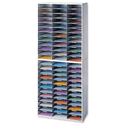 Fellowes Literature Sorter Melamine-laminated Shell 72 Compartments