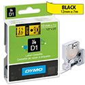 Dymo D1 Tape 45808 19mmx7m Black on Yellow S0720880