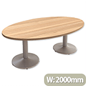 Large Oval Boardroom & Meeting Table W2000xD1200xH735mm Cherry Marbella Kito
