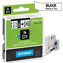 Dymo D1 Tape 40913 9mm x 7m Black on White S0720680