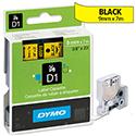 Dymo D1 Tape 40918 9mm x 7m Black on Yellow S0720730