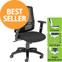 Influx Mesh Task Chair With Arms Black
