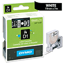 Dymo D1 Tape 45811 19mm x 7m White on Black S0720910
