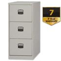 3 Drawer Steel Filing Cabinet Lockable Grey Trexus By Bisley