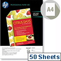 HP A4 Inkjet Paper Double-sided Glossy 180gsm 50 Sheets C6818A