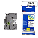 Brother TZ241 P-touch TZ Tape 18mm x 8m Black on White