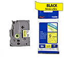 Brother TZ621 P-touch TZ Tape 9mm x 8m Black on Yellow
