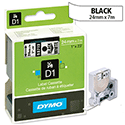 Dymo D1 Tape 53713 24mmx7m Black on White S0720930