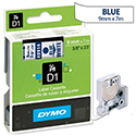 Dymo D1 Tape 40914 9mm x 7m Blue on White S0720690