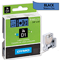Dymo D1 Tape 40916 9mm x 7m Black on Blue