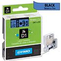 Dymo D1 Tape 40916 9mm x 7m Black on Blue