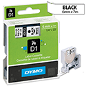 Dymo D1 Tape 43613 6mm x 7m Black on White S0720780