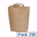 Ambassador Brown Paper Paper Takeaway Carrier Bags With Handle Pack 250