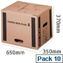 Cargo Box Plus XL Internal W650xD350xH370mm 97280001 Pack 10 Flexocare
