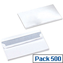 5 Star Office Envelopes Wallet Press Seal White DL (Pack 500)