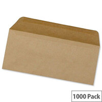 5 Star  Envelopes DL Manilla Wallet Gummed Pack 1000