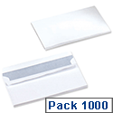 5 Star 80gsm Envelopes DL White Wallet Press Seal  Pack 1000