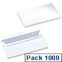 5 Star Office Envelopes Wallet Press Seal White DL (Pack 1000)