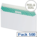 Basildon Bond DL Envelopes White Wallet Peel and Seal Pack 500 Recycled Ref C80116