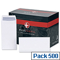 DL Envelopes White Pocket  Press Seal Pack 500 Plus Fabric