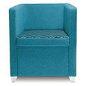 Jack Single Seater Armchair Blue
