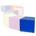 Link Segment Angled Cube Stool Blue