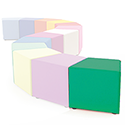 Link Segment Angled Cube Stool Green