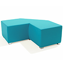 Link Tangent Right Angle Bench Blue