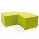 Link Tangent Right Angle Bench Green
