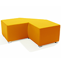 Link Tangent Right Angle Bench Orange