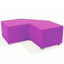 Link Tangent Right Angle Bench Pink