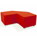 Link Tangent Right Angle Bench Red