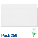 DL Envelopes White Wallet Press Seal Pack 250 Plus Fabric
