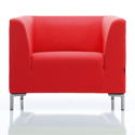 Sigma Single Seater Armchair - Red Fabric