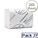 Kleenex Bulk Pack Dispenser Toilet Tissue 2-Ply 260 Sheets White Pack of 27 4477
